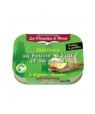 Les Mouettes d'Arvor Sardines with Butter & Garlic