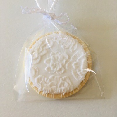Lot de 10 biscuits dentelle spécial mariage