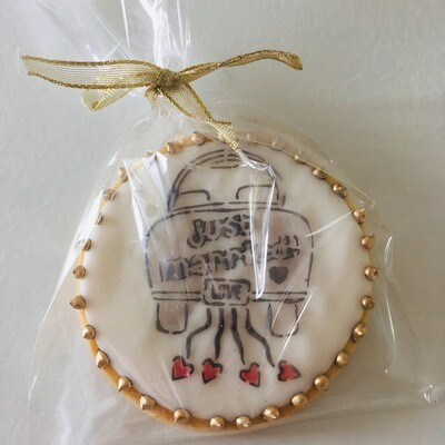 Lot de 10 biscuits thème mariage (décor au choix)