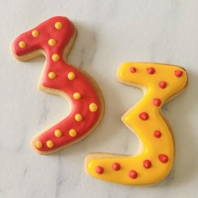 Lot de 10 biscuits chiffre cirque