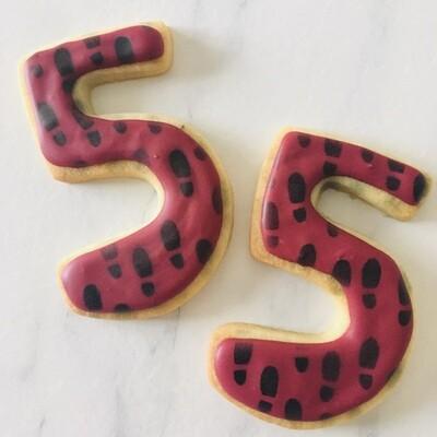 Lot de 10 biscuits chiffre Harry Potter