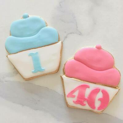 Lot de 10 biscuits cupcake