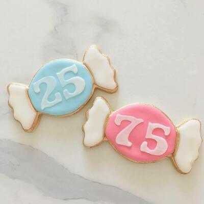 Lot de 10 biscuits bonbon