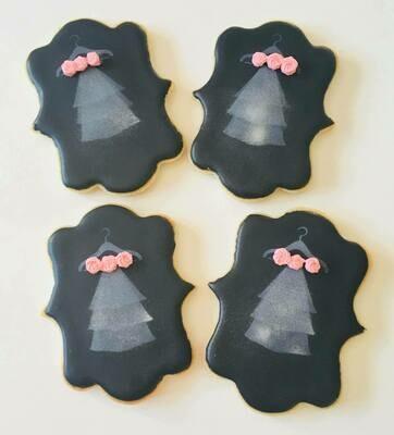 Lot de 10 biscuits voile de mariée
