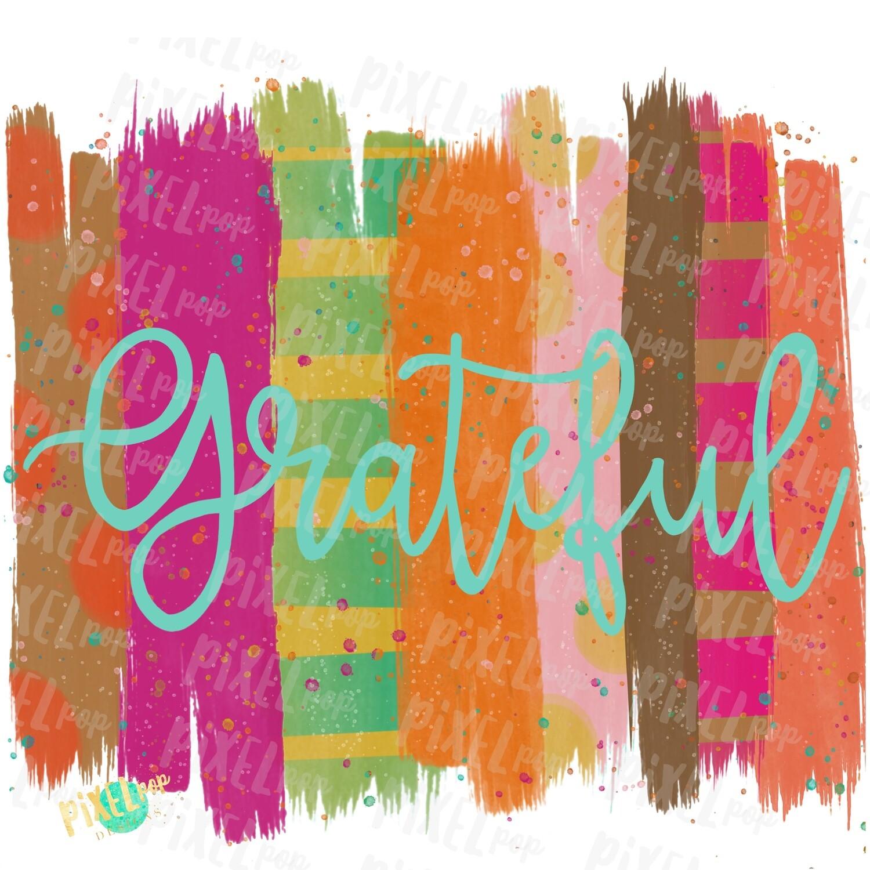 Grateful Fall Brush Stroke Background Sublimation PNG | Leopard Print Background | Golden | Transfer | Digital Print | Printable | Clip Art