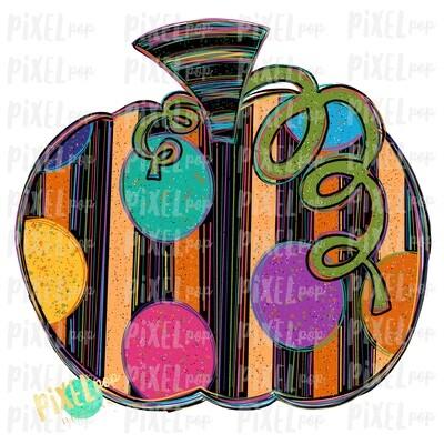 Striped and Speckled Pumpkin Sublimation PNG   Hand Drawn Sublimation Design   Sublimation PNG   Digital Download   Printable Artwork   Art