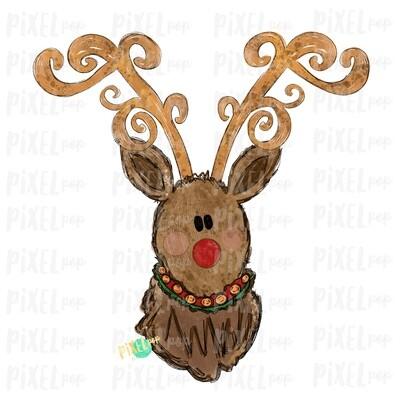 Reindeer Christmas Decorative Antlers No Bow (BOY) Sublimation PNG | Reindeer Art | Digital Download | Printable Artwork | Clip Art