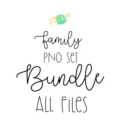 Classic Plaid Stick People Figure Family Members BUNDLE SET | PNG Sublimation | Family Ornament | Family Portrait Images | Digital Download | Digital Art