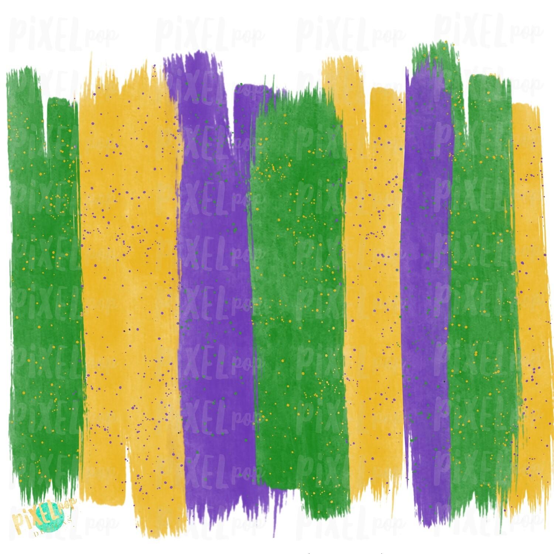 Mardi Gras Brush Stroke Background Art Sublimation PNG | New Orleans | Hand Painted | Mardi Gras Design | Digital Download | Clip Art