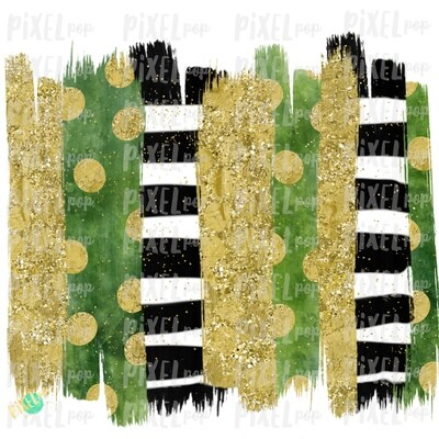 Saint Patrick's Day Brush Stroke Background Sublimation PNG | Design | Hand Painted Art | Digital Download | Printable | St. Paddy's Day