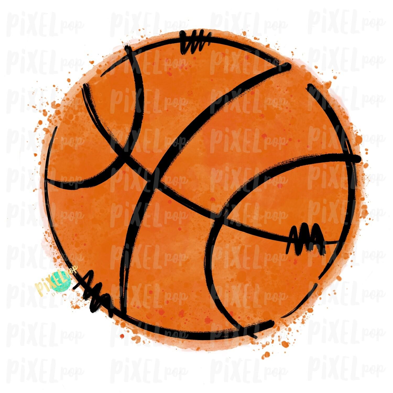 Basketball Watercolor Sublimation PNG Design   Basketball   Sublimation Design   Heat Transfer   Digital Download   Printable Artwork