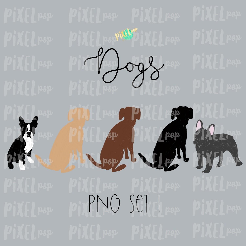 Dog Pets Set 1 for Stick Figure People Family Members Art PNG Sublimation   Family Ornament   Family Portrait Images   Digital Download