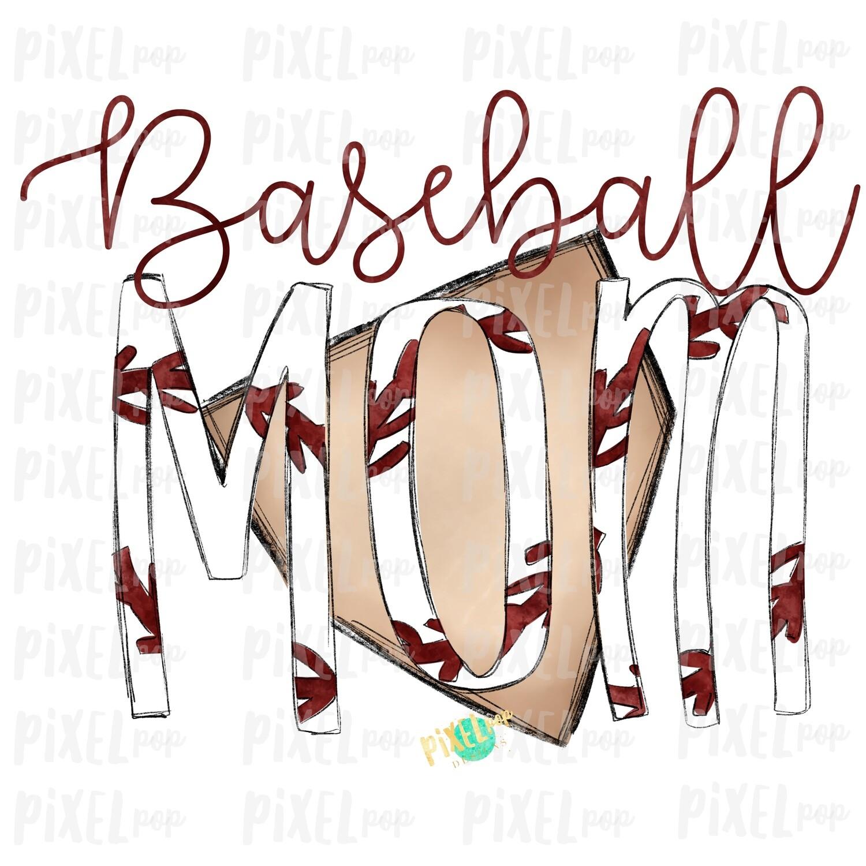 Baseball Mom Home Plate Sublimation PNG Design | Baseball Design | Sublimation Design | Heat Transfer | Digital Download | Printable Artwork
