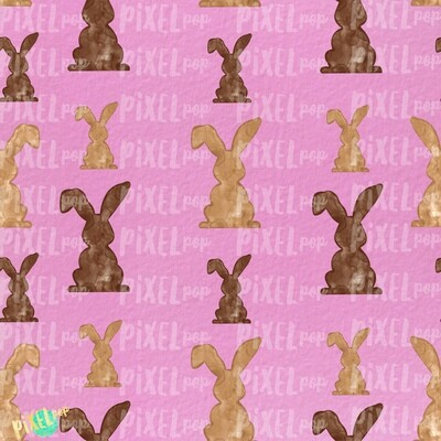 Bunnies Galore Pink Easter Digital Paper Sublimation PNG | Hand Painted Art | Sublimation PNG | Digital Download | Digital Scrapbooking Paper