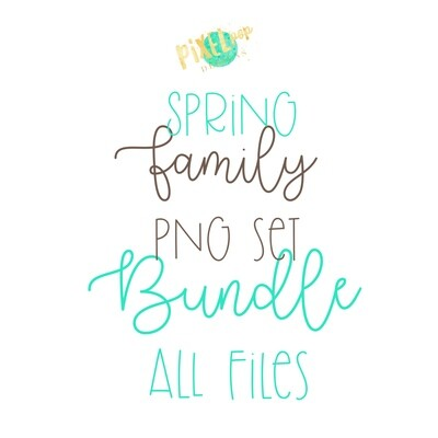 SPRING Stick People Figure Family Members BUNDLE SET | PNG Sublimation | Family Ornament | Family Portrait Images | Digital Download | Digital Art