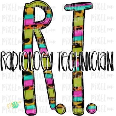 Radiology Technician RT Bright Sublimation Design   Sublimation   Hand Drawn Art   Nursing PNG   Medical Art   Digital Download   Art Clipart