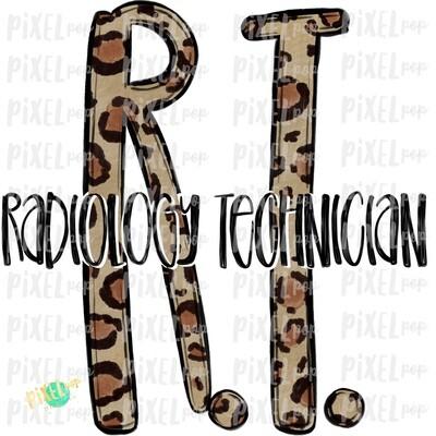 Radiology Technician RT Leopard Sublimation Design   Sublimation   Hand Drawn Art   Nursing PNG   Medical Art   Digital Download   Art Clipart