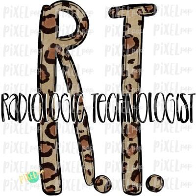 Radiologic Technologist Leopard Sublimation PNG   Sublimation   Hand Drawn Art   Nursing PNG   Medical Art   Digital Download   ArtClipart
