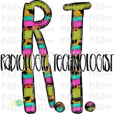 Radiologic Technologist Bright Sublimation PNG   Sublimation   Hand Drawn Art   Nursing PNG   Medical Art   Digital Download   ArtClipart