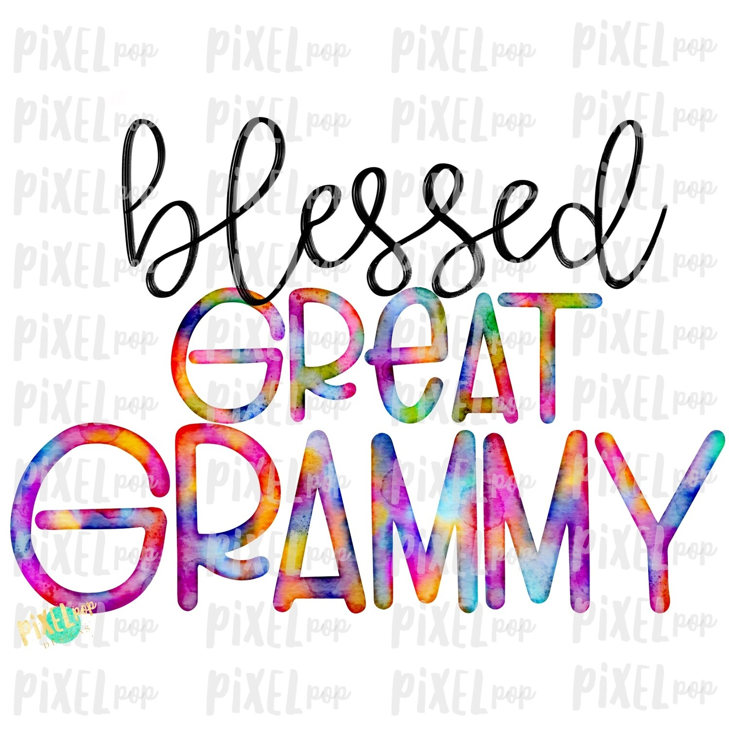Blessed Great Grammy Watercolor Mother's Day Sublimation Design PNG | Hand Drawn PNG | Sublimation PNG | Digital Download | Printable Art | Art