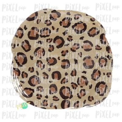 Leopard Watercolor Circle Smudge Background Sublimation PNG | Design | Hand Painted Art | Digital Download | Printable | Digital Element