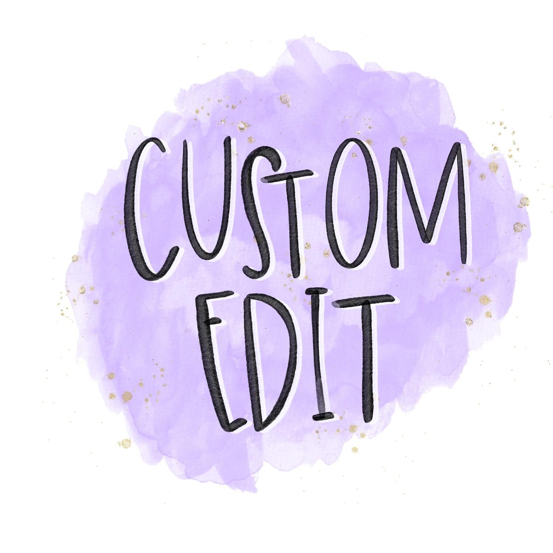 Custom Football Capital Letter with Wording - Design Tweak
