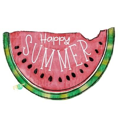 Happy Summer Watermelon Watercolor PNG Sublimation Design | Hand Drawn PNG | Sublimation PNG | Digital Download | Printable Art | Clip Art