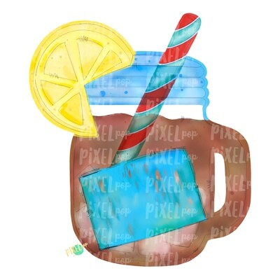Tea in Mason Jar Watercolor PNG | Sublimation | Print and Press | Mason Jar Tea Design | Printable | Digital Download | Sweet Tea Clip Art | Hand Painted Digital Art