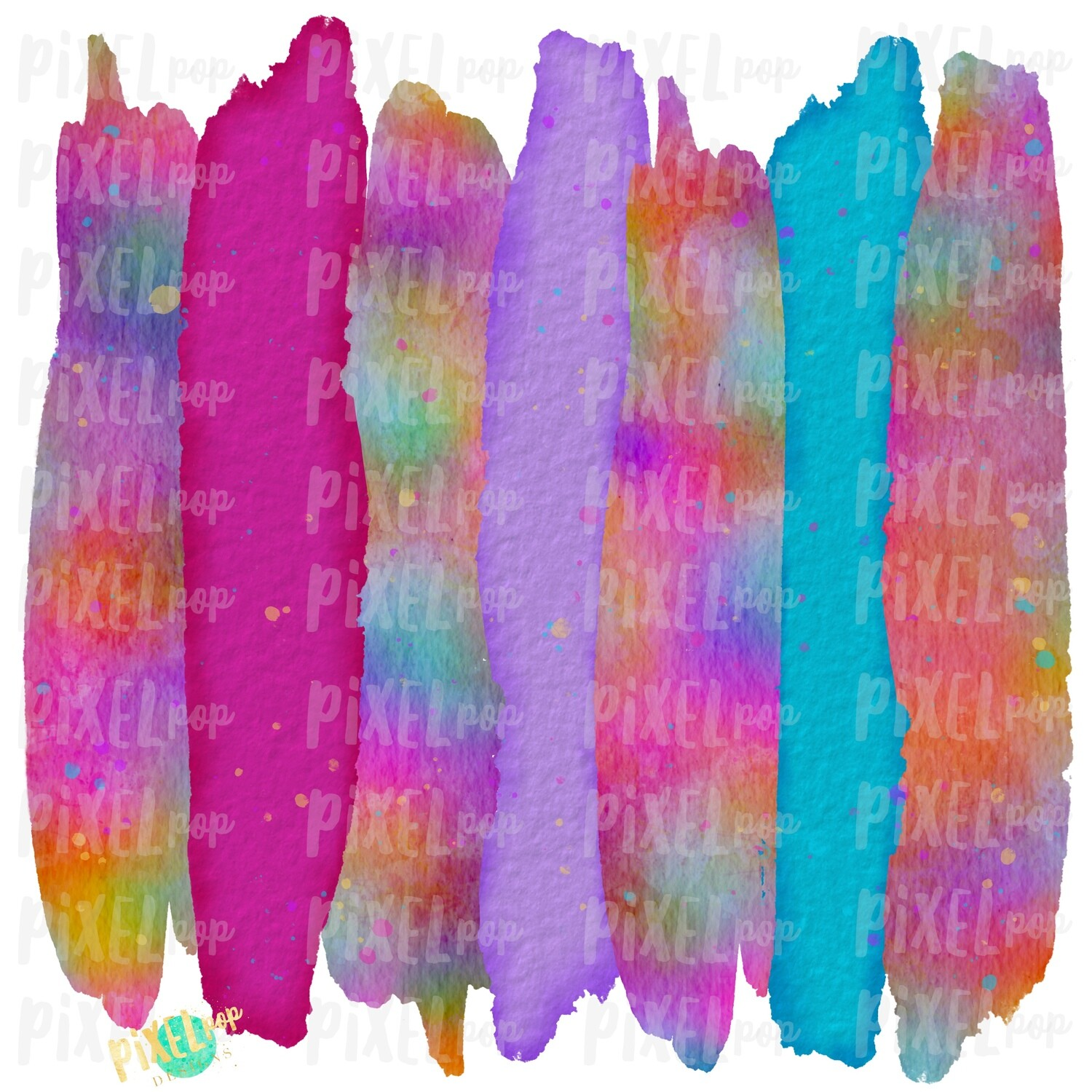Tie Dye Watercolor Brush Stroke Background Sublimation PNG | Paint Strokes | Hand Painted | Digital Background | Printable