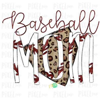 Baseball Mom Leopard Home Plate Sublimation PNG Design | Baseball Design | Sublimation Design | Heat Transfer | Digital Download | Printable Artwork
