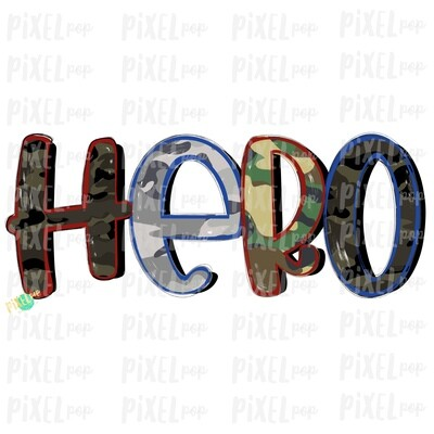 Hero Camouflage Patriotic PNG   Hand Painted   Sublimation Design   Military Design   Camouflage Digital Art   Printable Art   Clip Art