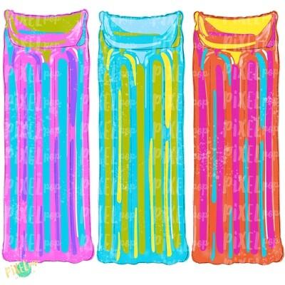 Pool Floats Trio Design PNG | Sublimation Art Design | Hand Painted | Pool PNG | Summer Design | Summer Pool Clip Art | Pool Float Design