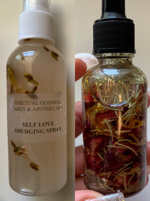 LOVE INTENTION SET - Self Love Smudging Spray + Love & Attraction Oil