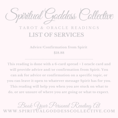 Advice/Confirmation From Spirit