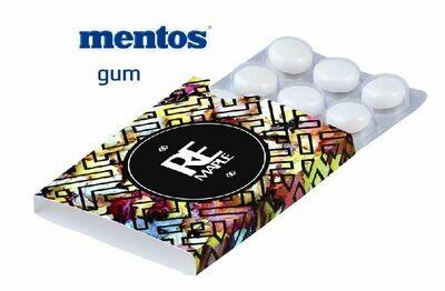 1.000 ST. MENTOS GUM - KAUGUMMIS 12er-Pack mit 4c-Logodruck