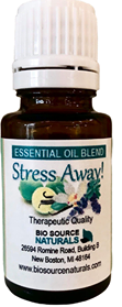 Stress Away! Essential Oil Blend - Aromatherapy - Therapeutic Quality