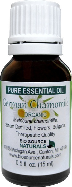 Blue (German) Chamomile, Organic Pure Essential Oil with Analysis Report