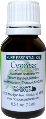 Cypress Pure Essential Oil with Analysis Report