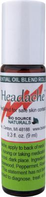 Headache Relief Essential Oil Blend - 0.3 fl oz (9 ml) Roll On