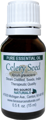 Celery Seed Pure Essential Oil with Analysis Report