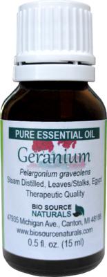 Geranium Pure Essential Oil with Analysis Report