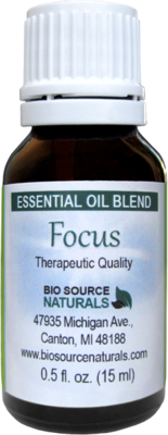 Focus Essential Oil Directions for Use Downloadable PDF File