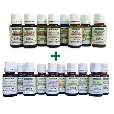 Combination Holiday Set with 18 Pure Essential Oils 0.5 fl oz (15 ml) each