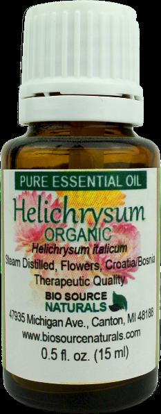 Helichrysum, Organic (Helichrysum italicum) Pure Essential Oil with Analysis Report