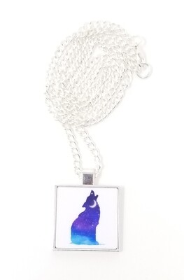Wolf Pendant with Chain