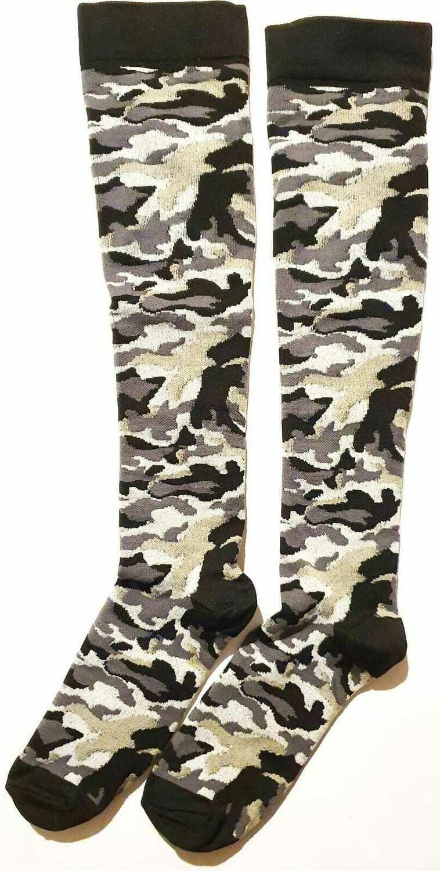 Lange Kompressionssocken mit das Camouflage