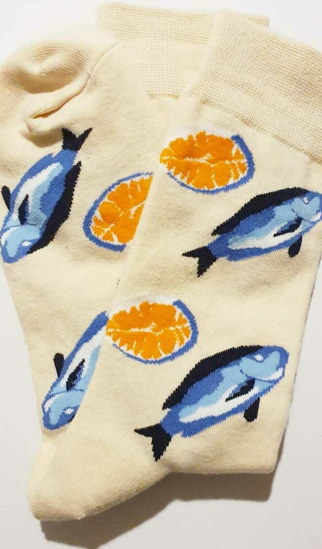Socken mit Fische