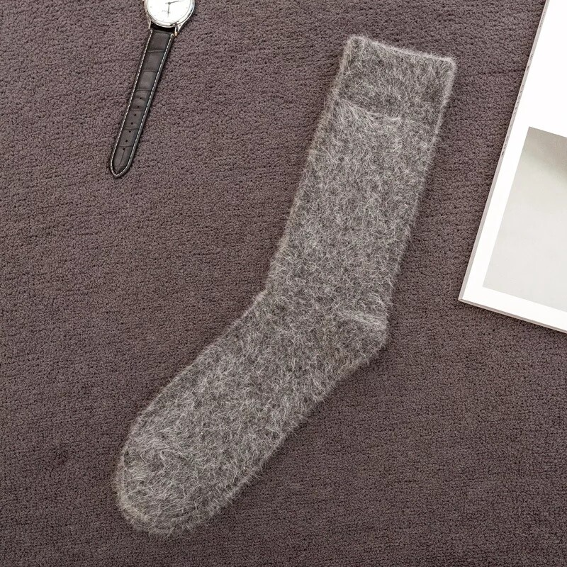 Wolle Socken (Weiß)