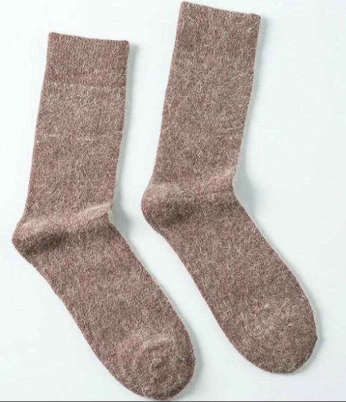 Wolle Socken (Grau)