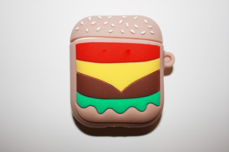 AirPods Case mit Hamburger